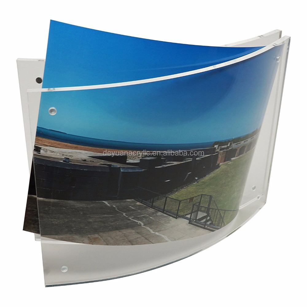 Transparent Acrylic Magnetic Photo Frame / Camber Pictures Frame