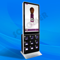 restaurant menu stand with led mobile phone charger vending machine