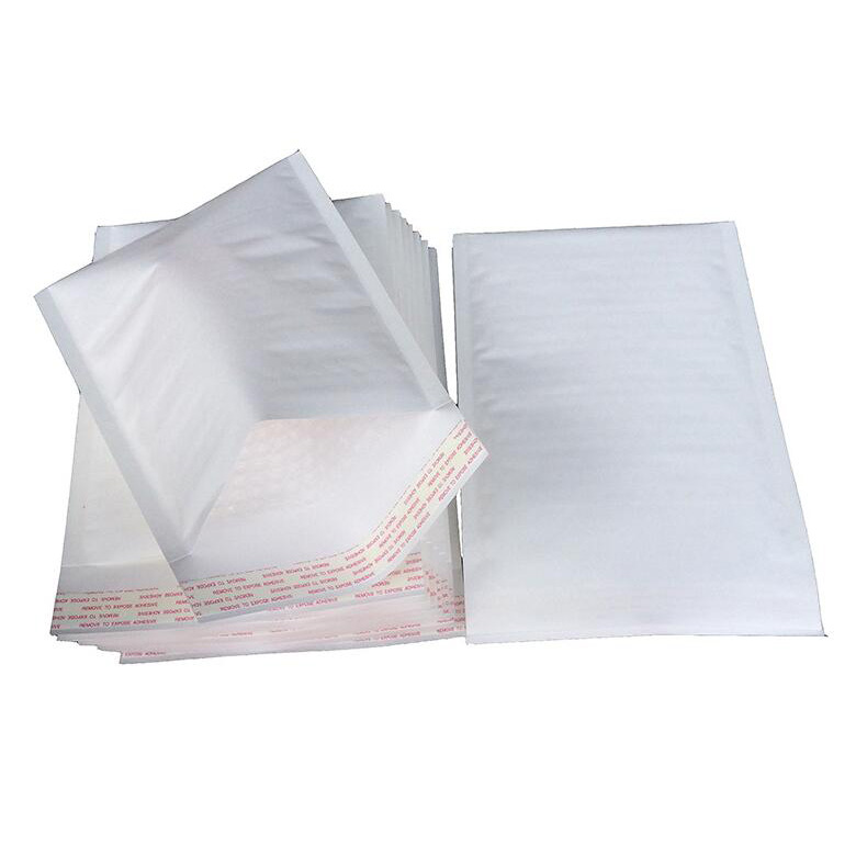 Wholesale White Kraft Paper Air Cushion Bubble Envelope Shipping Mailer