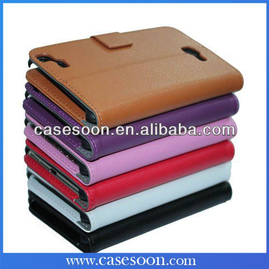 For Samsung Galaxy Note II Leather Wallet Case N7100,For Samsung Galaxy Note 2 N7100 Leather Flip Case Cover