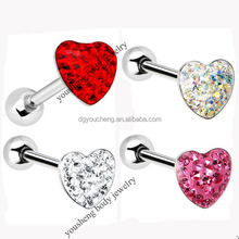 316Lstainless steel sparkle best design Christmas tongue ring