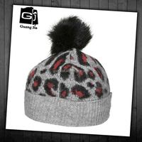 High quality fashion knit pattern trapper hat