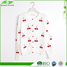 Excellent quality latest custom designs pictures knit sweater for girls