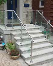 contemporary outdoor stair railing banister design