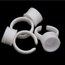 200pcs Plastic Tattoo Ink Ring for Eyebrow Permanent Makeup All Sizes white Tattoo Pigments Ink Holder Rings Container/Cup
