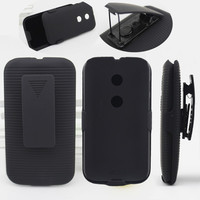 High quality holster combo case for motorola moto e case made in china