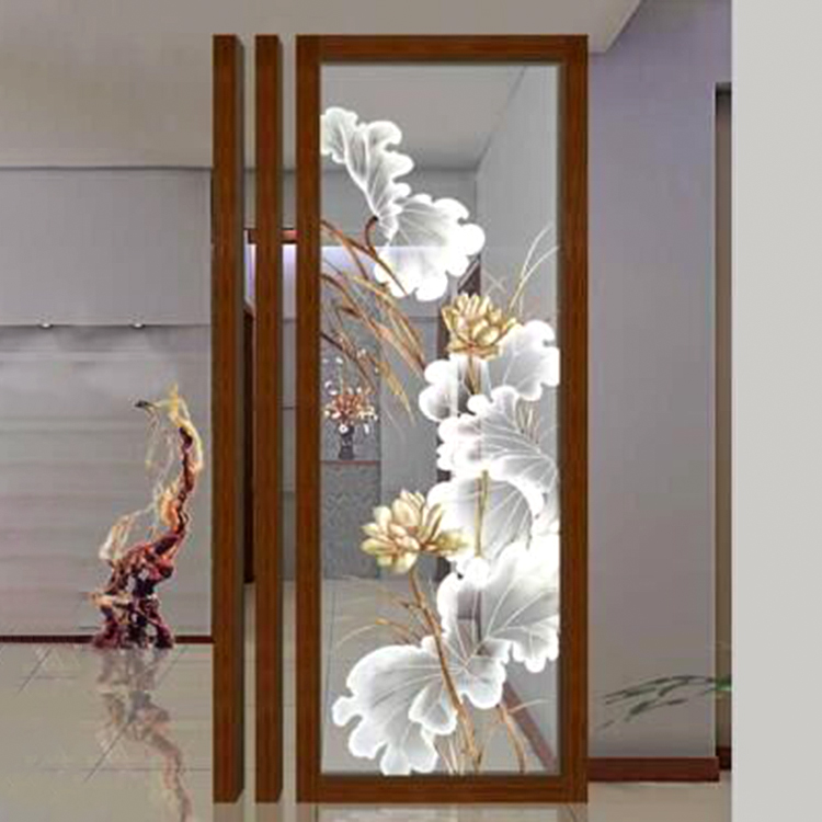 Modern hotel decorative glass flower wall <strong>art</strong>