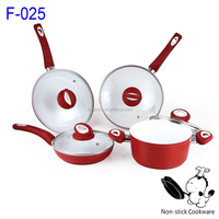 Forged aluminum nonstick ceramic frying pan sauce pot oil free cookware set