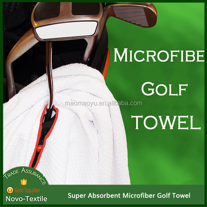 China Supplier Cheapest Absorbent Embroidered Logo waffle Golf Towel
