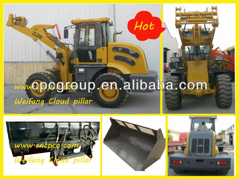 2 ton ZL20F CE/EPA bridge construction machinery mini wheel loader mini