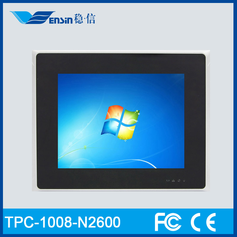 Fanless 8 Inch TPC-1008-N2600 Industrial Mini PC With LED Display Screen