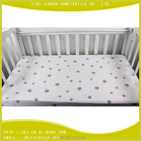 baby jersey cotton bed sheet portable crib sheet