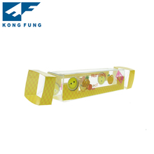 Wholesale yellow plastic folding box for candy