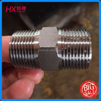 carbon steel nipple made in China Ningbo for screw steel 1T-08-16SP