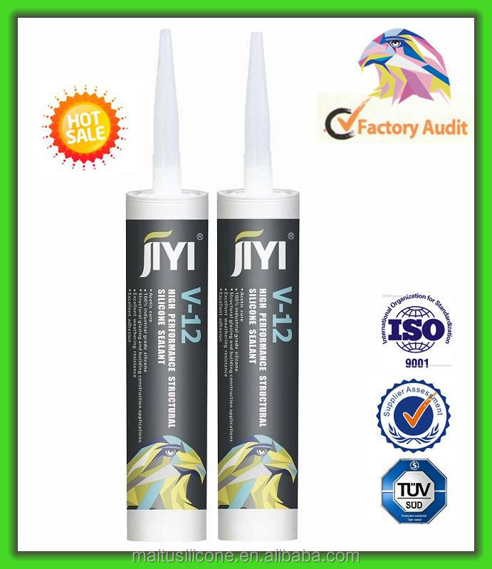 fast cure acetoxy acetic glass aluminium alloy window door silicone sealant