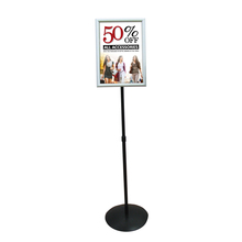 Sign Holder floor stand post 17in metal sign holder