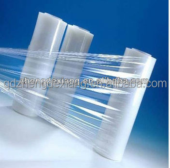 cling film with self adhesive made of LLDPE material