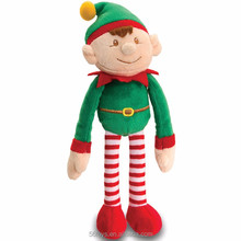 green red christmas decoration elf on the shelf plush elf toy