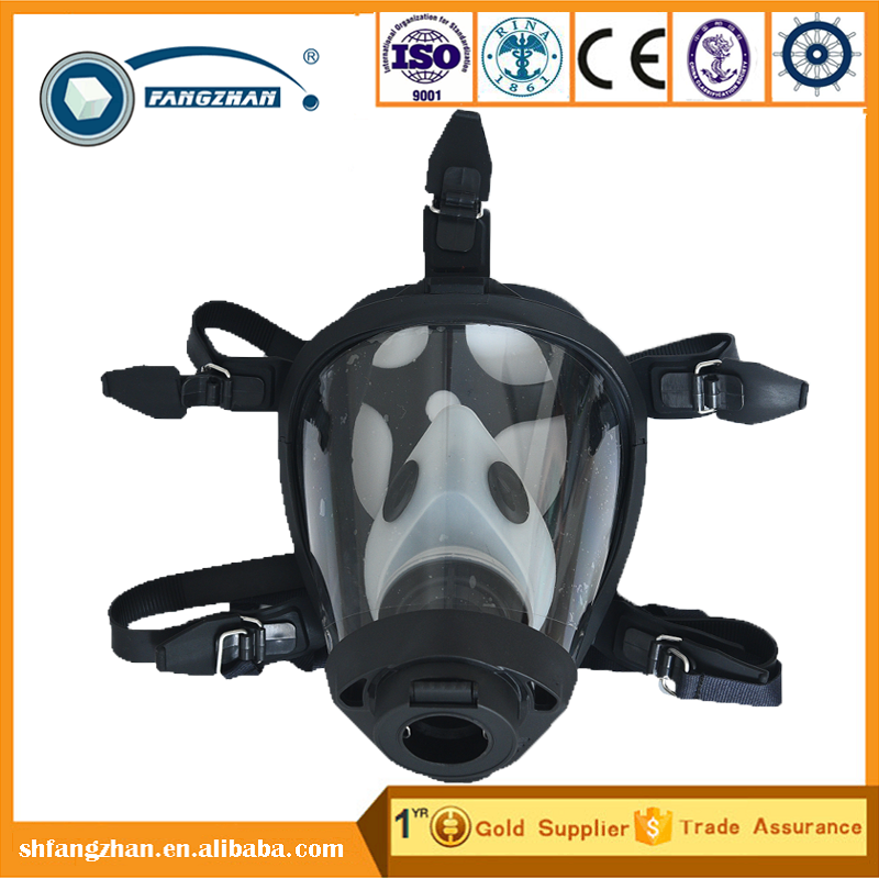 2016 Newest Cylindrical Full Face Gas Mask with single filter, fire escape respirator