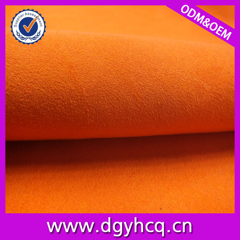 colorful microfibre suede leather&suede leather for shoes/bags/decorative/belt/handicraft