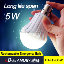 Hand control B22/E27 rechargeable 5W led light bulb emergeny lamp lighting