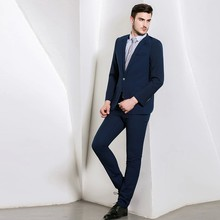 Guangzhou Mens Designer 2 Piece Suit In Cyan For Men Italian Skinny Fit