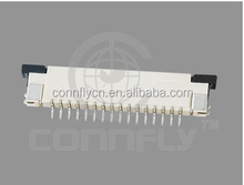Top grade 1.0mm pitch zif v/t smd type FPC connector with CE FCC certificated