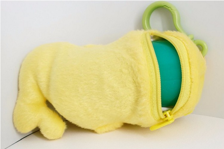 Custom plush stuffed toy hot water bottle cover with ziplock