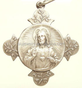 Sacred Heart of Jesus Christ Cross Medal Pendant