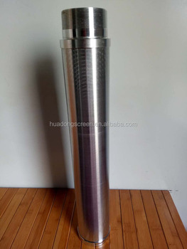 stainless steel micron slot tube wire wrapped water filter pipe