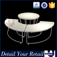 2016 new design table top display rack,clothing display shelves,rotating stand