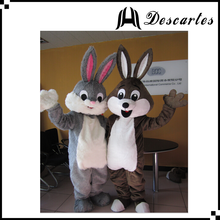 """L"" size plush rabbit walking costumes, adult mascot Easter bunny costume for Festival"