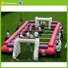inflatable football toss game sport human table football game inflatable soccer field game for sale