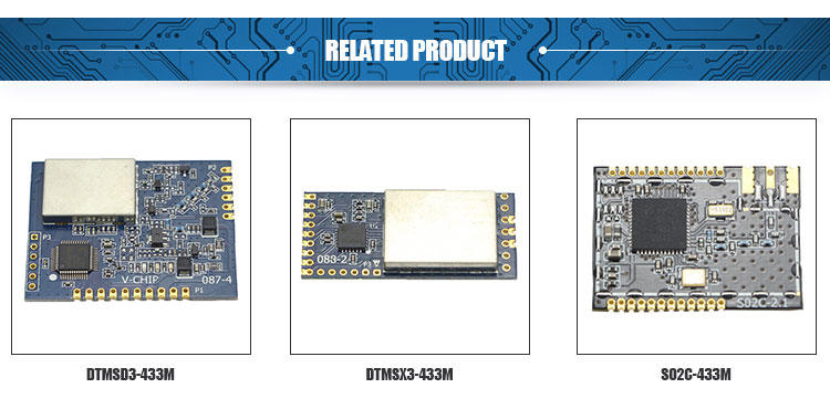 China Direct Sale 1200Bps-200Kbps Data Rate CC1120 15Dbm Receive Rf Module