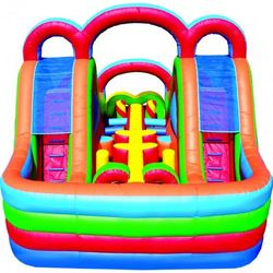 INFLATABLE OBSTACLE COURSE 1 PIECE MINI TURBO RUSH FUNHOUSE 1 inflatable obstacle courses