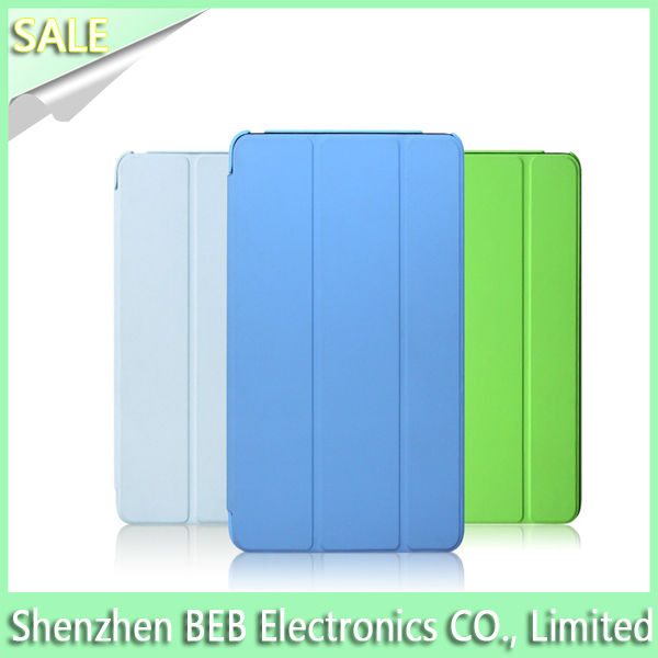 Qualified for ipad mini smart cover leather case with fast delivery