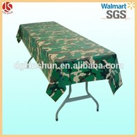 New Market! Camouflage Banquet Table Cover Plastic Table Cloth for Army