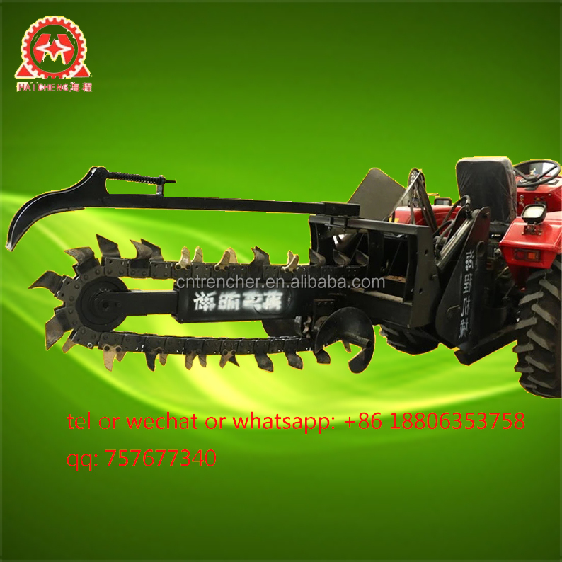 high quality lower price factory directly sale 3 point hitch chain trencher for tractor