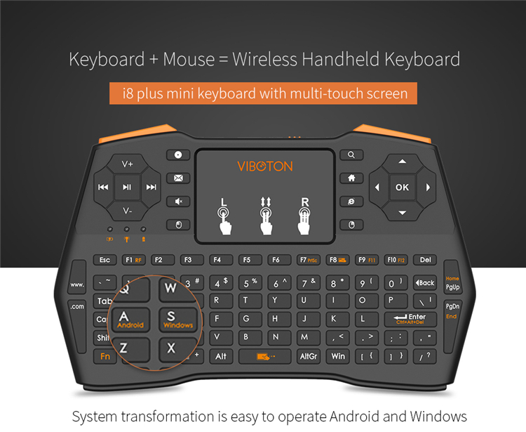 2.4ghz Fly Air Mouse Wireless Remote i8 plus with 2.4GHz RF