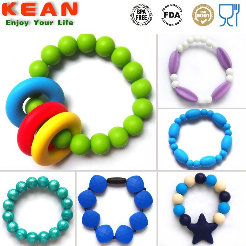 Hot sale silicone rubber ball bracelet