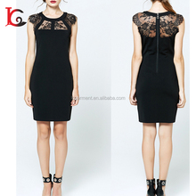 hot sale latest formal dress patterns one piece slim fit sweet sexy black lace new fashion ladies dress