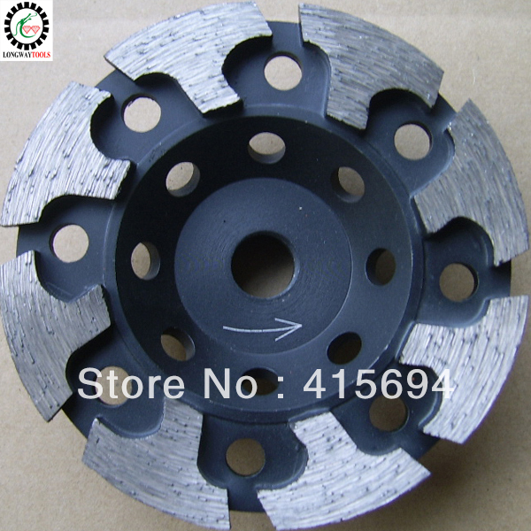 "6"" arrow segment cup wheel, T shape cup wheels for stone, granit cup grinding wheel."