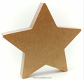 Free Standing MDF Star Shape Christmas Decorations