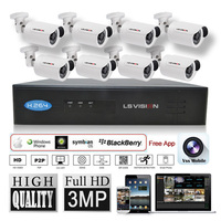 LS VISION ip nvr kit security nvr 8ch camera system camera ip outdoor FCC,CE,ROHS Certification