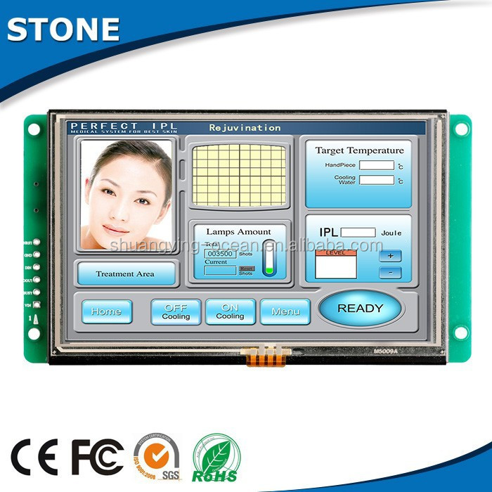 "5"" inteligent simple operation tft touch panel in lcd modules"
