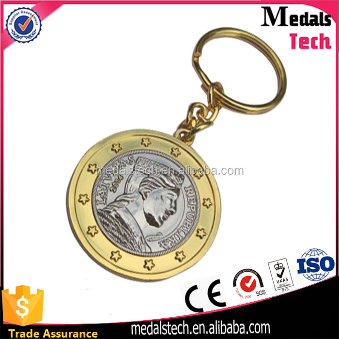 China alibaba custom design die cast double plating antique gold silver yeezy keychain