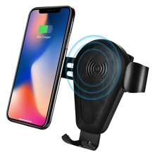 High Quality 10W Real Leather Fast Wireless <strong>Charger</strong> Gravity <strong>Car</strong> Mount Wireless <strong>Car</strong> <strong>Charger</strong> for iPhone for Samsung Charging