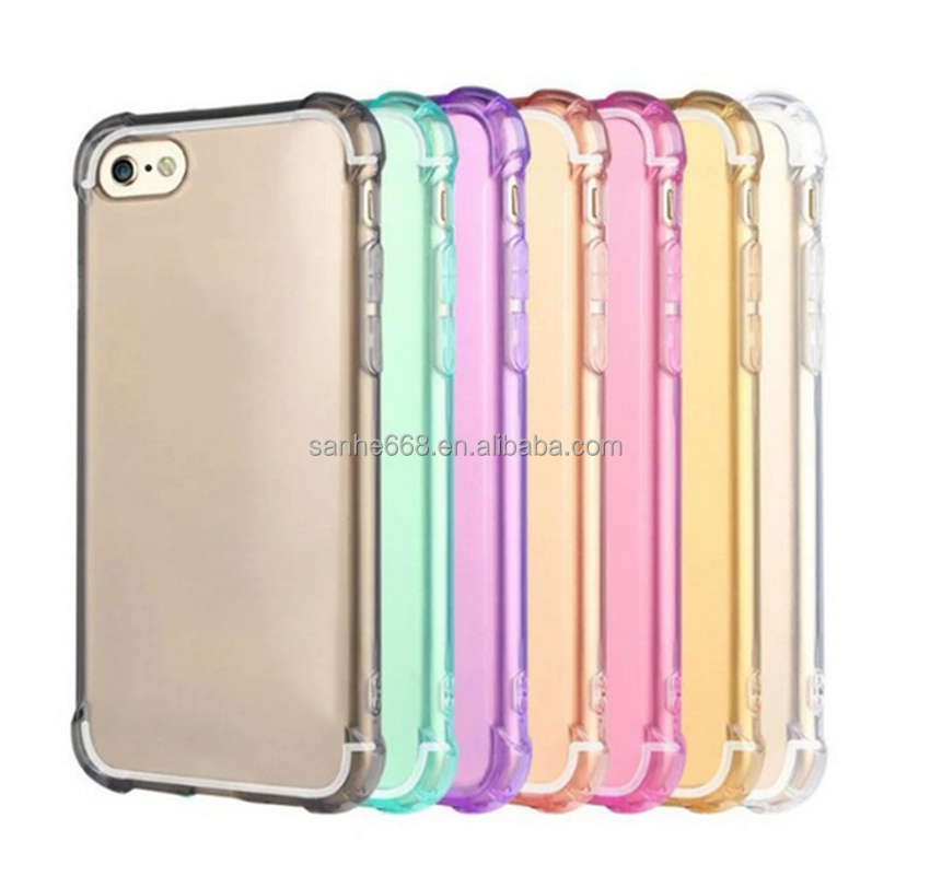 premium eight colors blank cover transparent tpu clear phone case cover for iPhone 5 5s 6 7 sale high quality cheap price