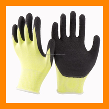 13-gauge High Visibility Cut Protection Safety Gloves with Microfinish-grip Foam Latex Palm Coat