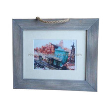 Home wall decoration rope hanging shabby wooden photo frame